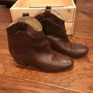 Zara ankle leather boots